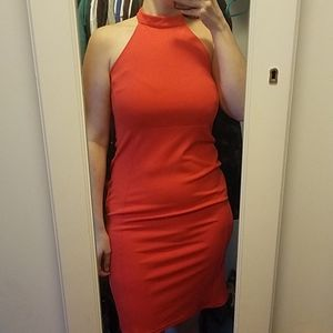 New Look red fitted cocktail dress